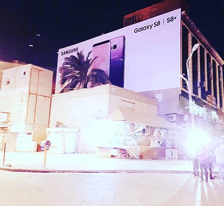 تبلیغات سامسونگs8 در اهواز