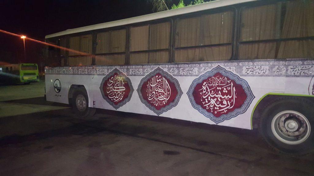 نصب استیکر بدنه اتوبوس در اهواز توسط گروه محمدی